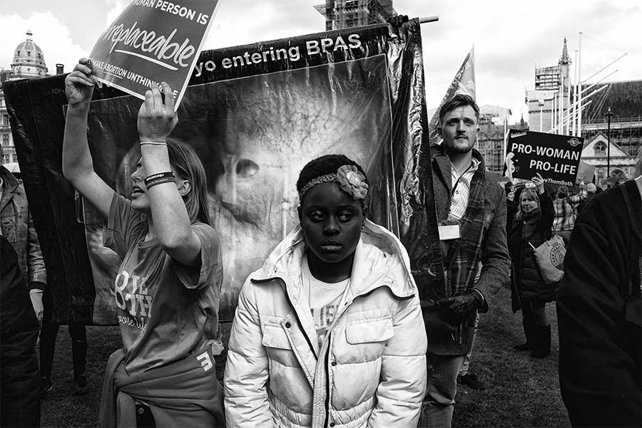 March for Life and March for Choice, London, 2019 by David Sladek