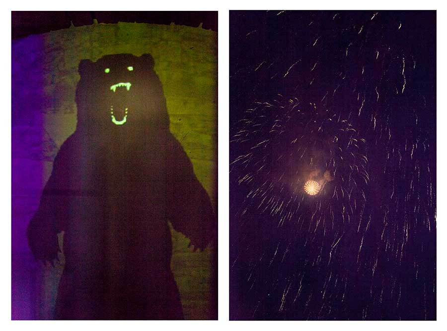 Bear & Fireworks from the series Bear Girls by Ute Behrend