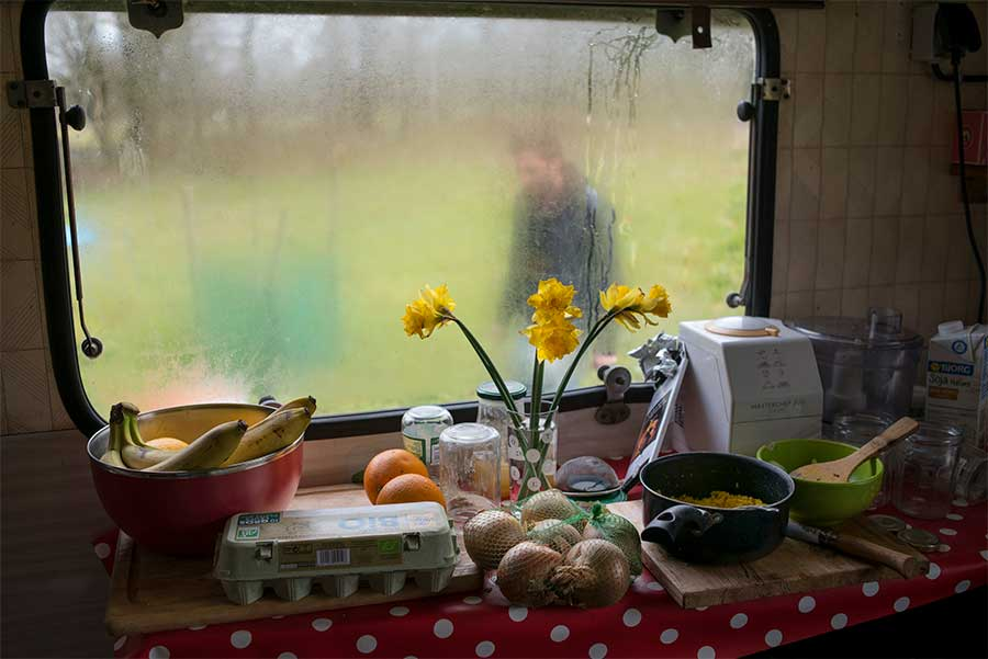 Inside a caravan from the series A Zone to Defend by Penelope Thomaidi