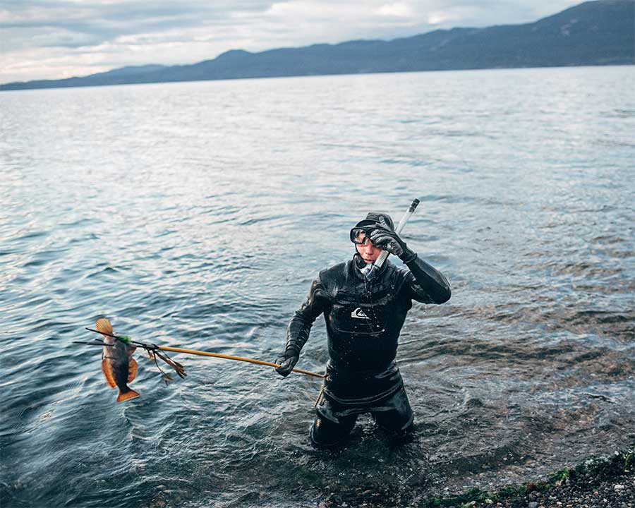 Spearfishing from the series Voices in the Wilderness by Ryan Walker
