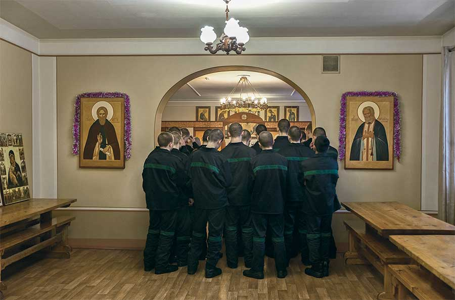 Liturgy in the Orthodox Church from the series Boys by Tatiana Bondareva